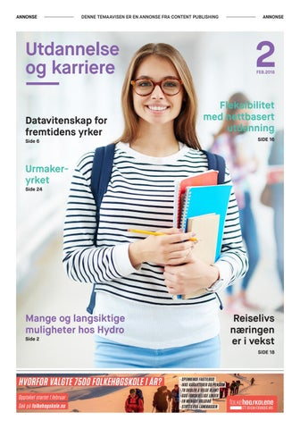1cdfd881 Utdannelse og karriere 2018 by Content Publishing - issuu