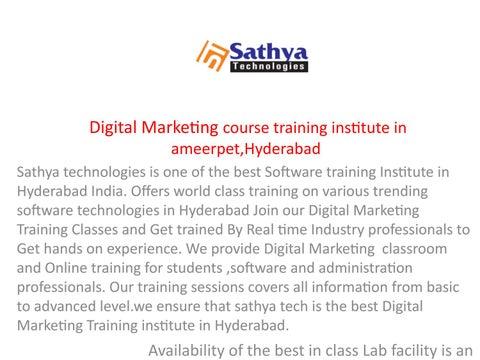 Digital marketing ppt by sathyatech giri - issuu