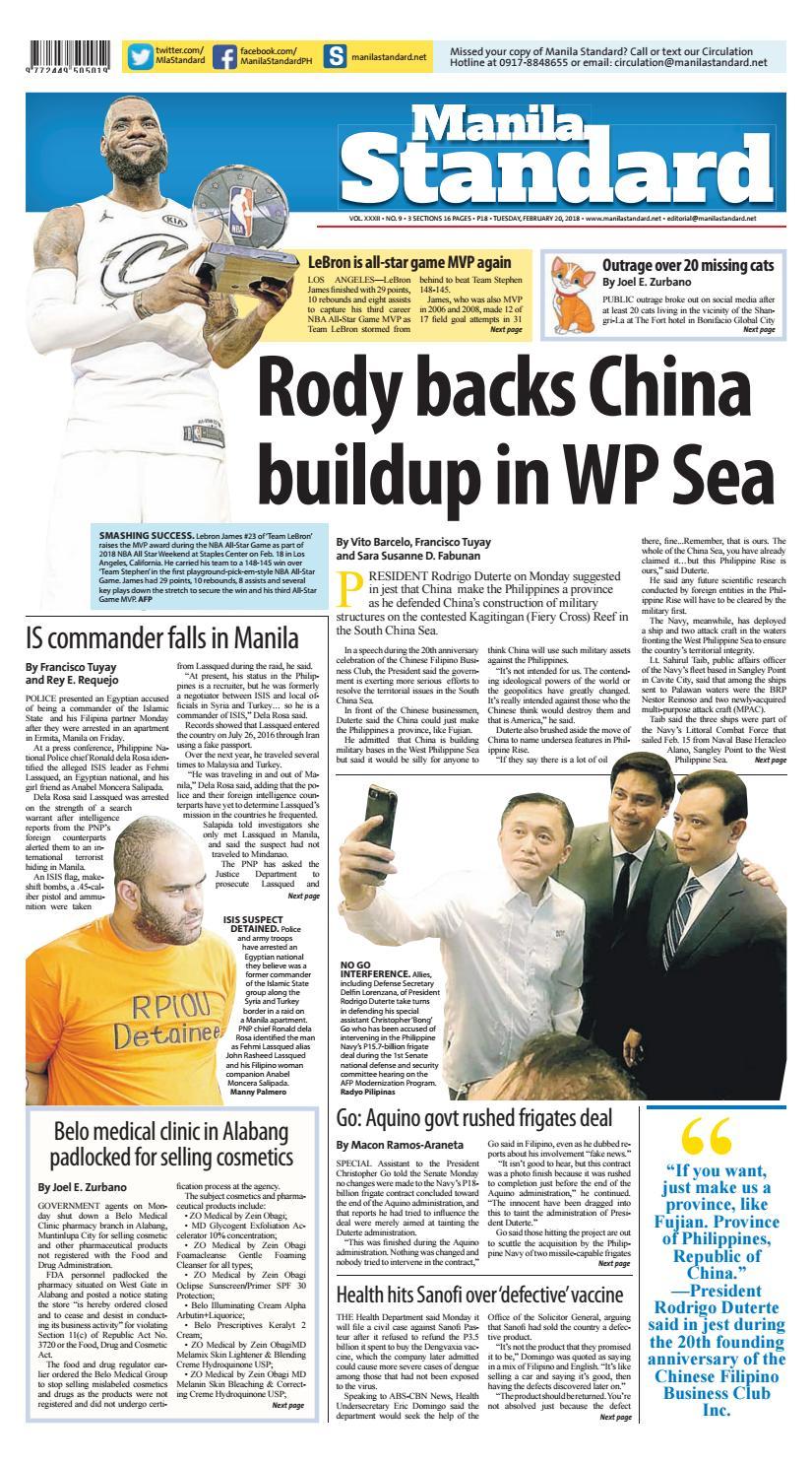 Manila Standard 2018 February 20 Tuesday By Issuu Ideal 61532 Analog Breaker Finder
