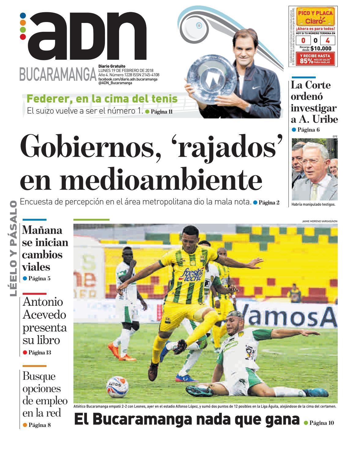 b07d36854541 ADN Bucaramanga del 19 de febrero del 2018 by diarioadn.co - issuu