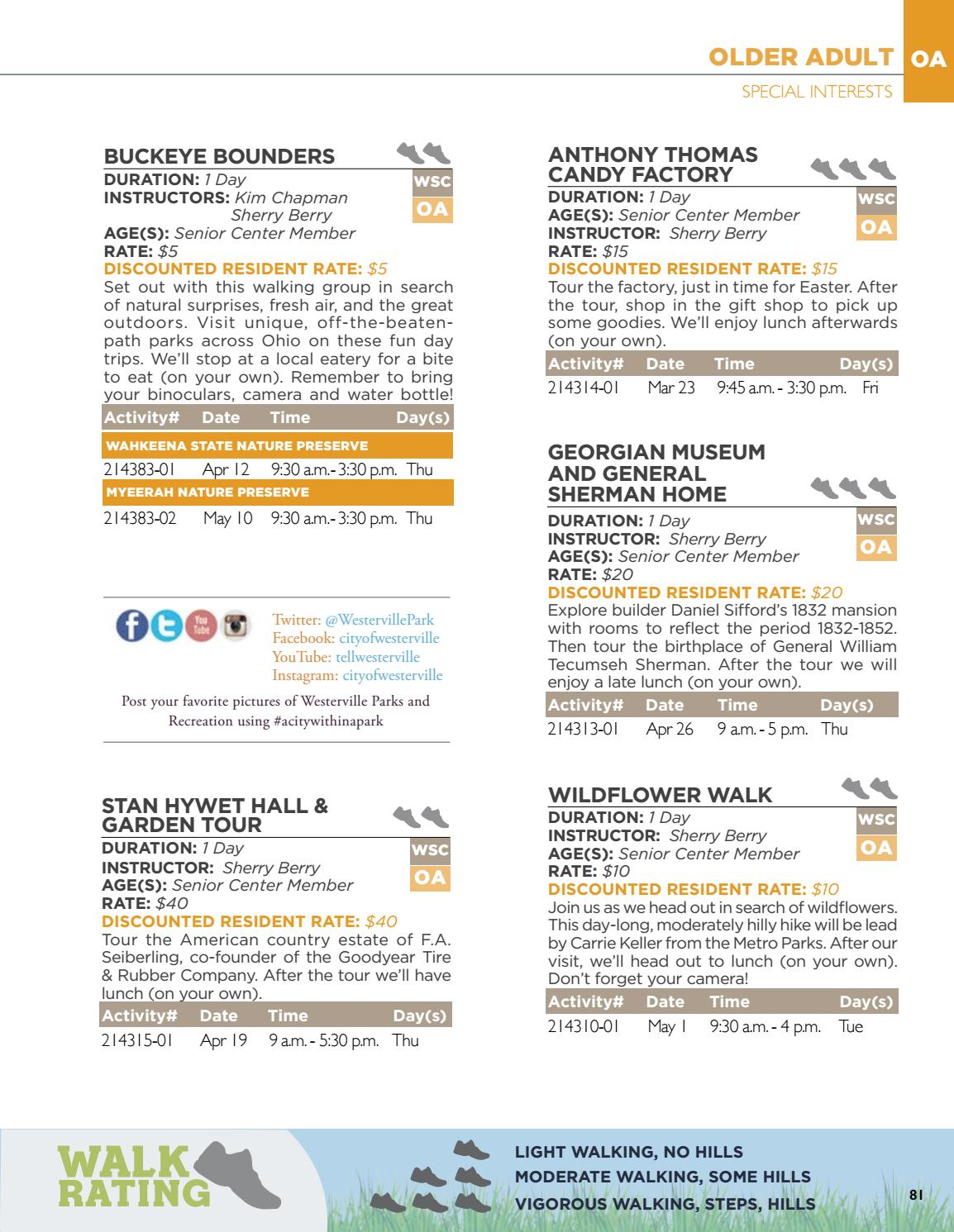 Westerville Spring 2018 Community Recreation Guide by City