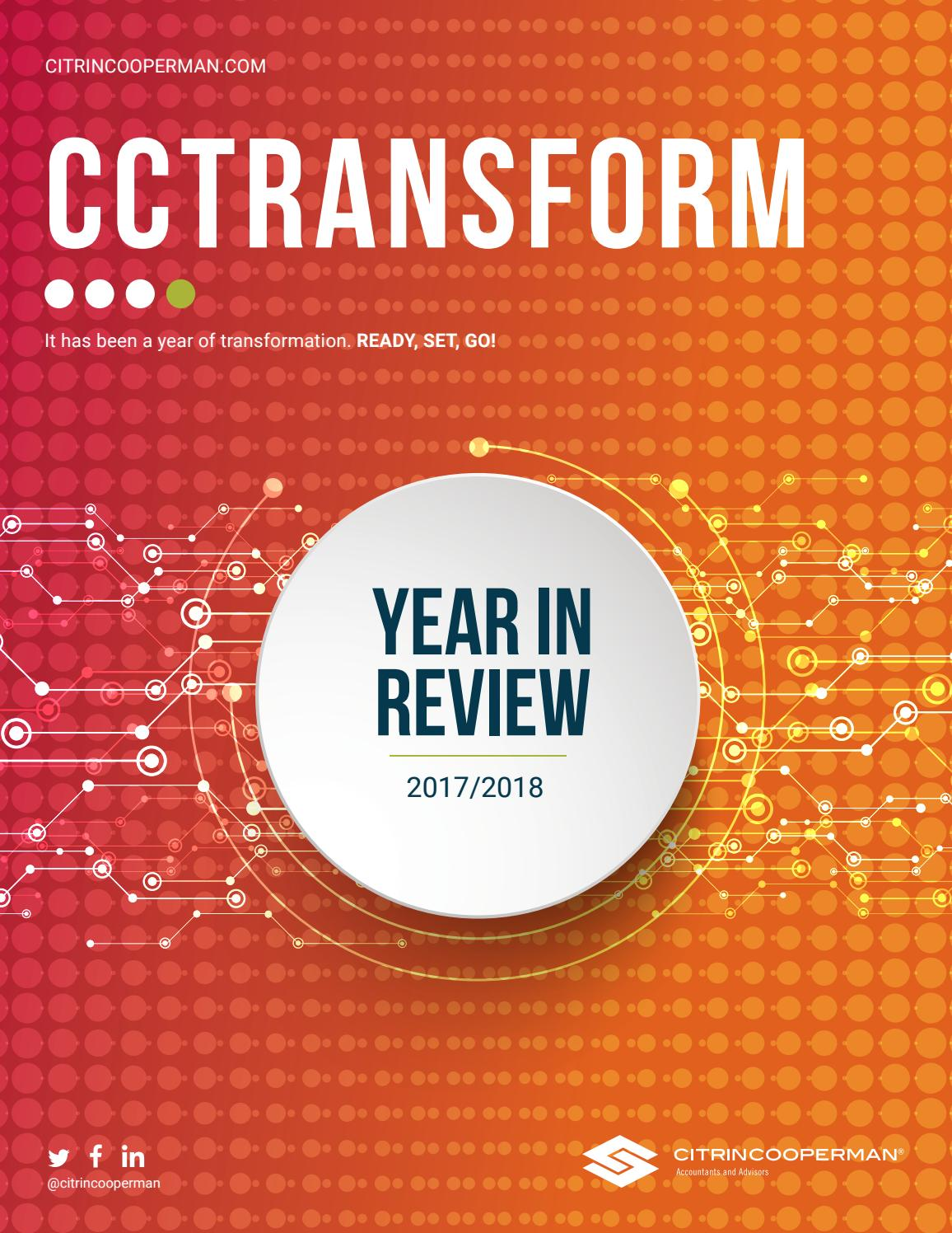 Citrin Cooperman's Year In Review 2017-2018 by Citrin