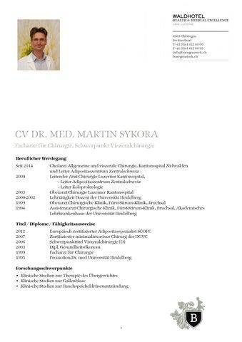 Lebenslauf Martin Sykora by The Bürgenstock Selection - issuu