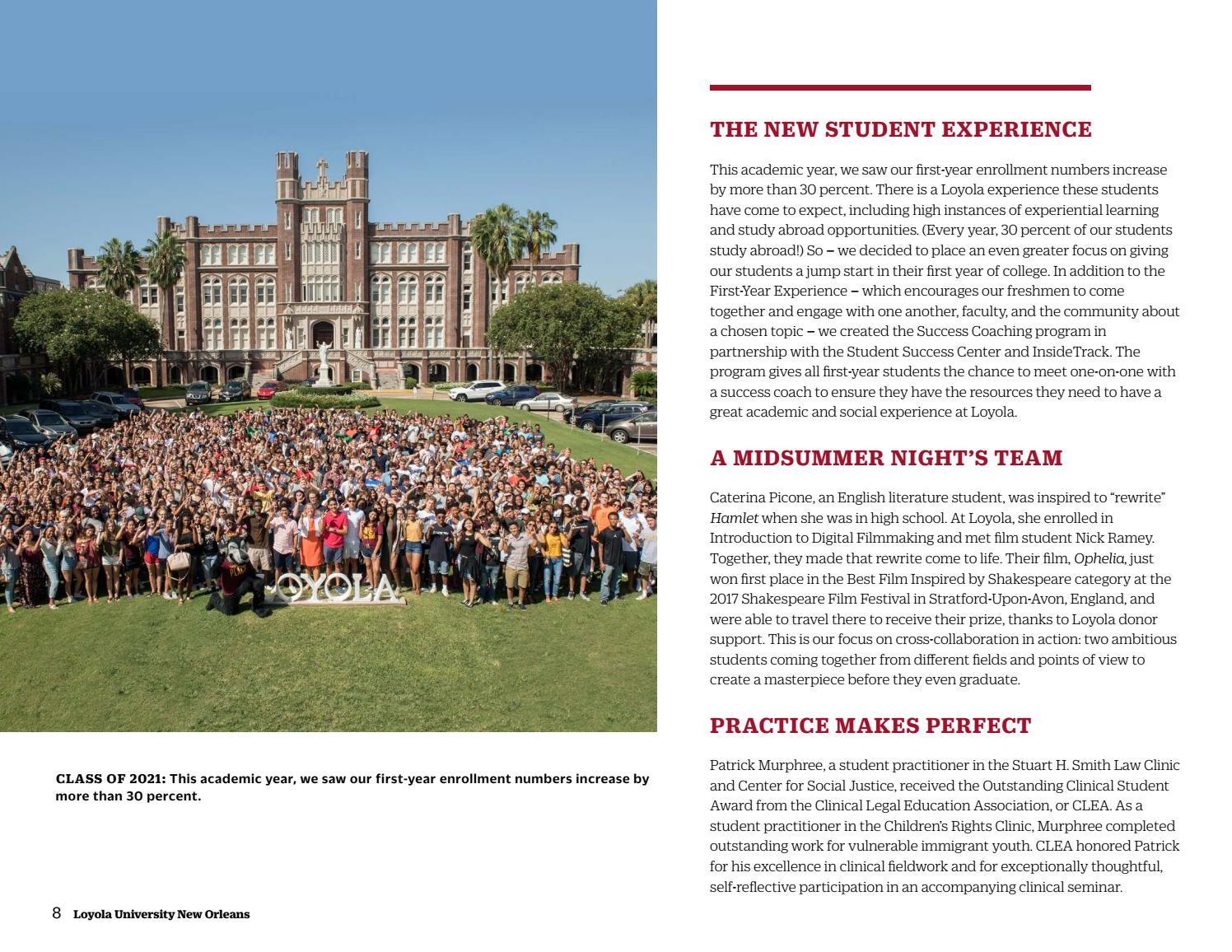 WINNING 2017—More in Deeds: Loyola University New Orleans