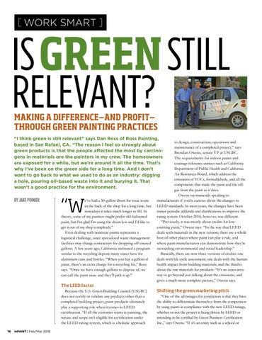 Page 16 of Making a difference—and profit— through green painting practices