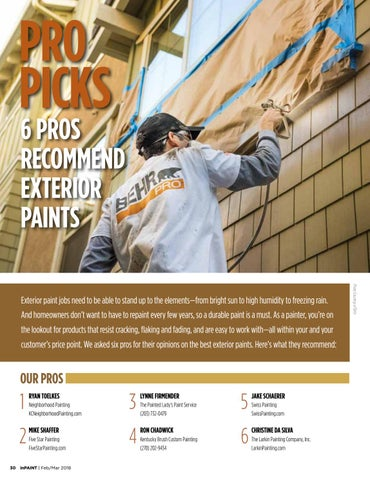 Page 30 of Pros recommend exterior paints