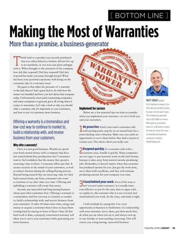 Page 39 of Using warranties as a business generator