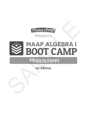 Sample | MAAP Algebra I Mississippi | 1st Edition by