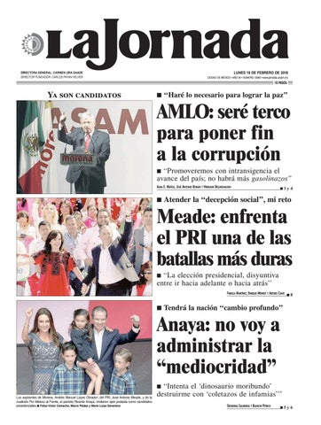 LUNES 19 DE FEBRERO DE 2018 CIUDAD DE MÉXICO • AÑO 34 • NÚMERO 12055 •  www.jornada.unam.mx 70a6e12337b8b