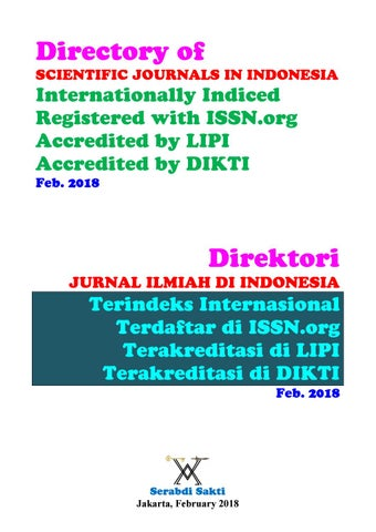Daftar Jurnal Ilmiah Di Indonesia Feb 2018 By The1uploader Issuu
