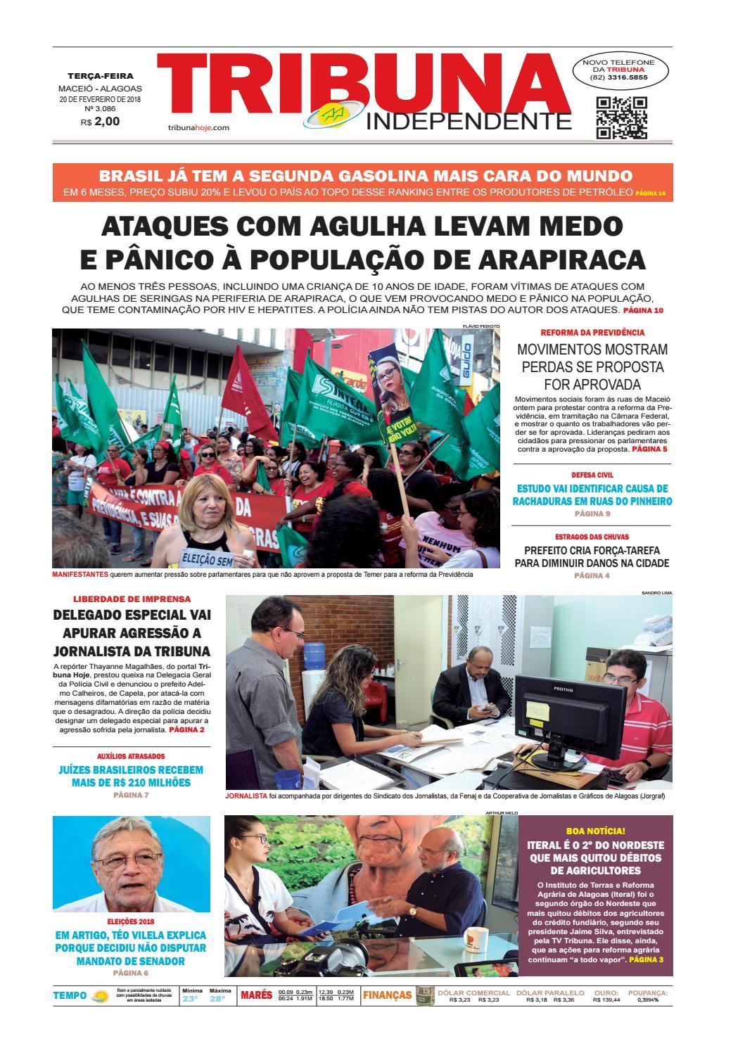 Edição número 3086 - 20 de fevereiro de 2018 by Tribuna Hoje - issuu e4112d10c58