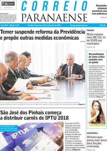 Correio Paranaense - Edição do dia 20-02-2018 by Editora Correio ... f95563d87f2fa