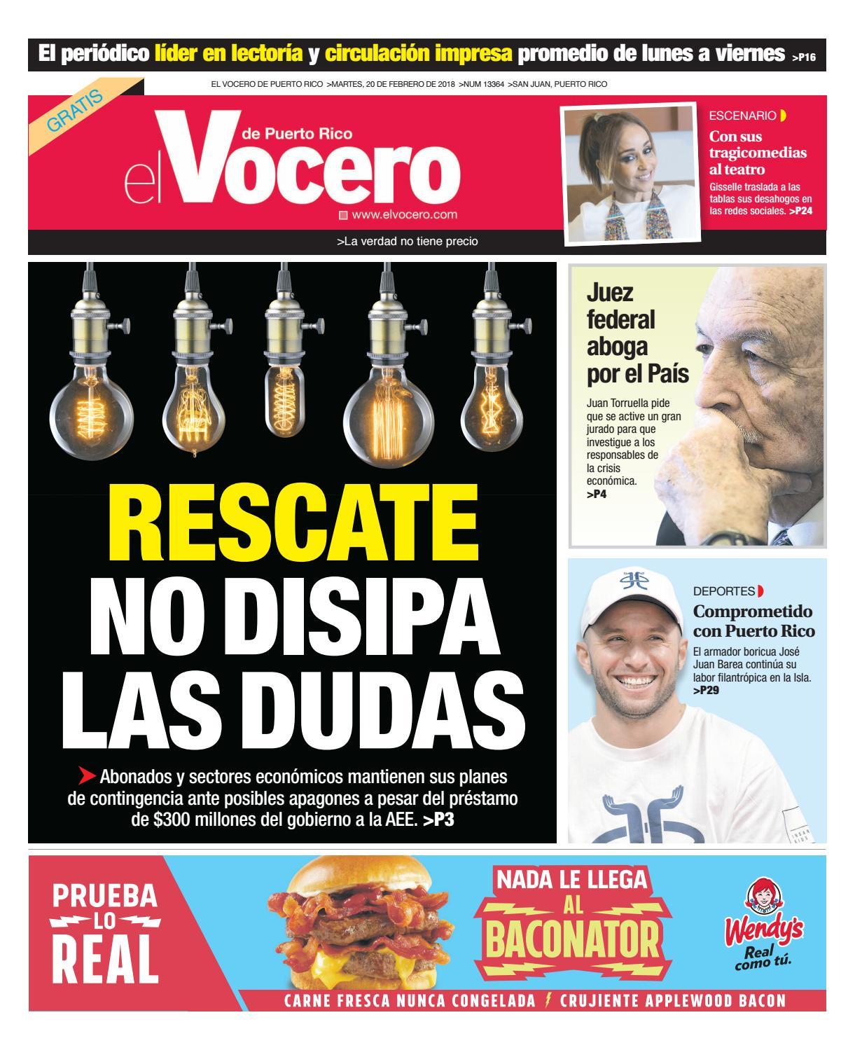 42e52e7f8a885 Edición del 20 de febrero de 2018 by El Vocero de Puerto Rico - issuu