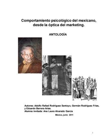 642db6cdf Atologia psicologia del mexicano by maría Lourdes Enríquez Mendoza ...