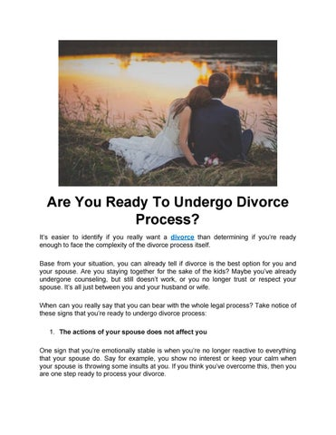 Signs you are ready for divorce