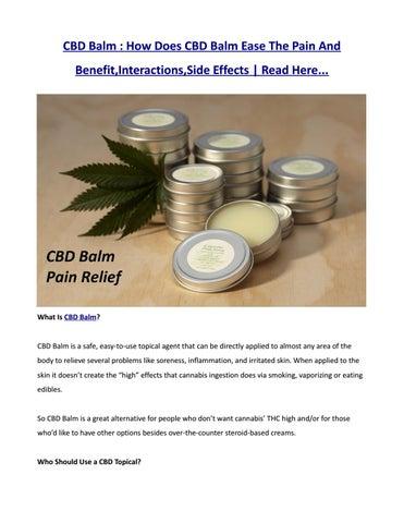 Alternatives to CBD Topicals