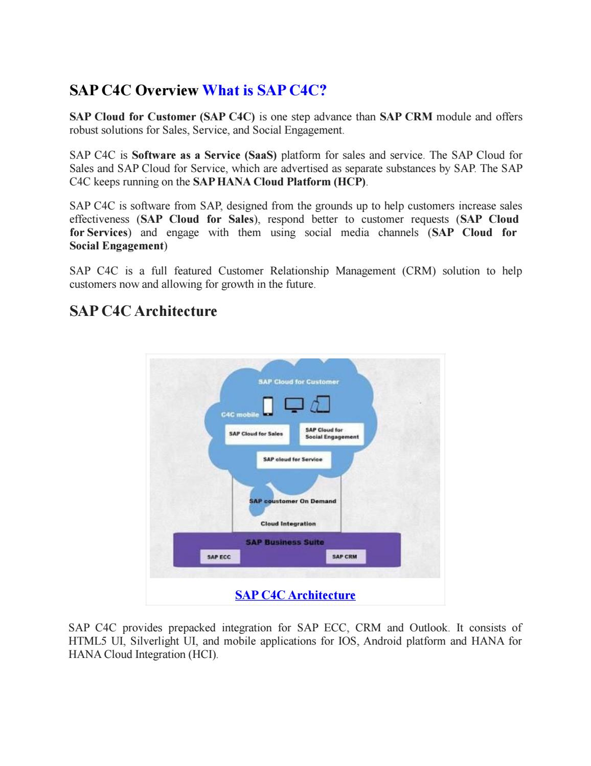 SAP C4C PPT by shruti allentics - issuu