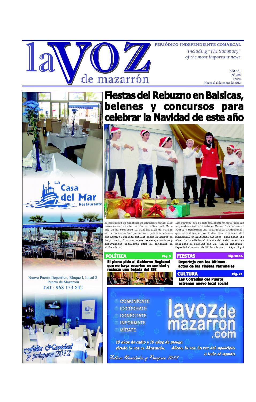 Voz288 by La Voz de Mazarrón (Periódico) - issuu a52f605ac2d