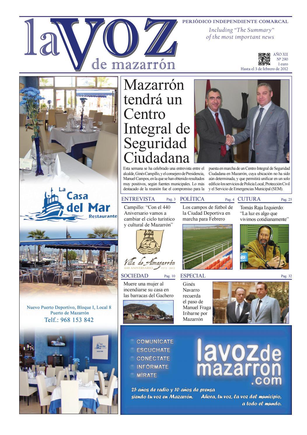 Voz290 by La Voz de Mazarrón (Periódico) - issuu 50c3d03f403c4