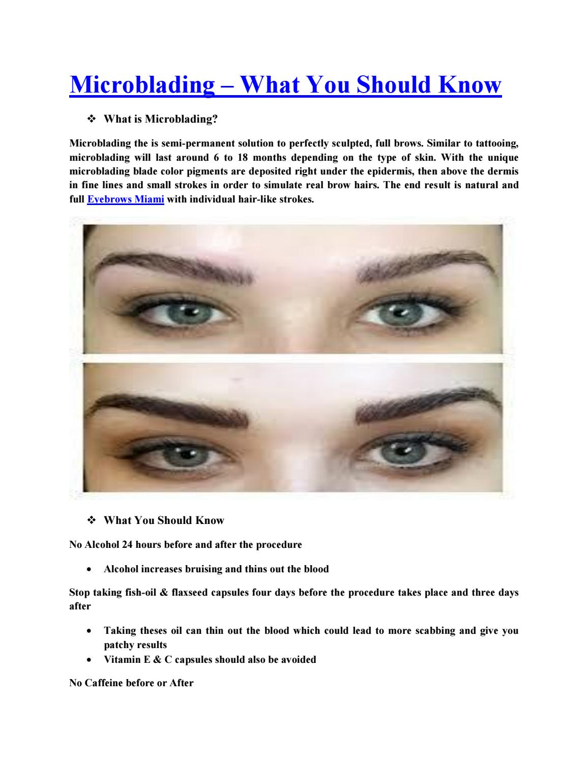8698c8e5e21c9 Microblading – What You Should Know by Esthesio Clinic by Sevmylook Miami  Store - issuu