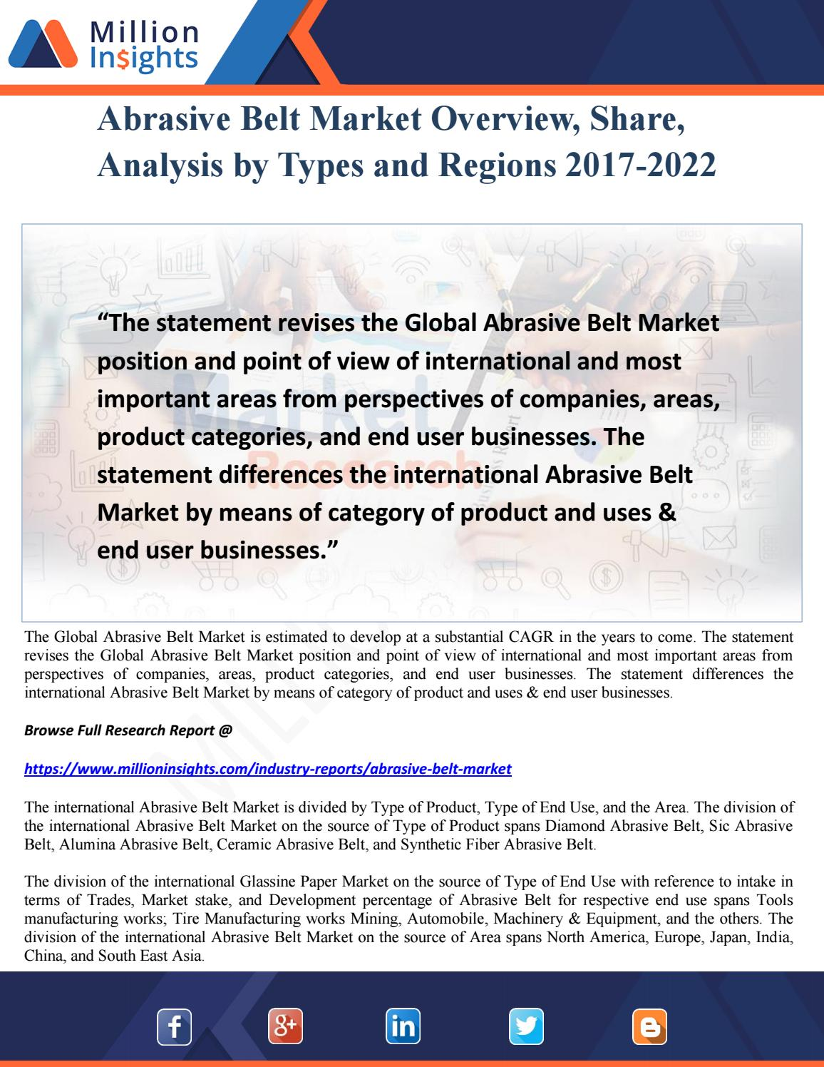 Abrasive Belt Market Overview, Share, Analysis by Types and