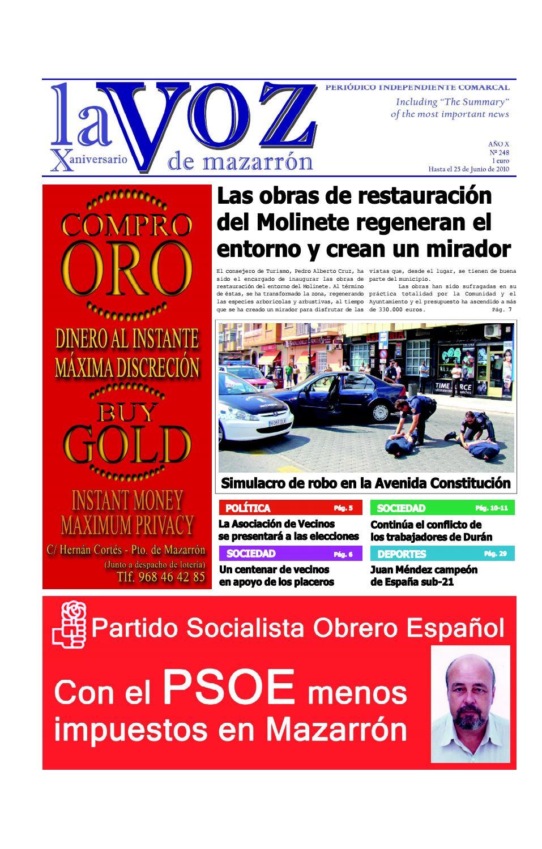 Voz248 by La Voz de Mazarrón (Periódico) - issuu 4023102394288