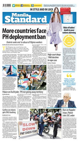 Manila Standard - 2018 February 21 - Wednesday by Manila Standard
