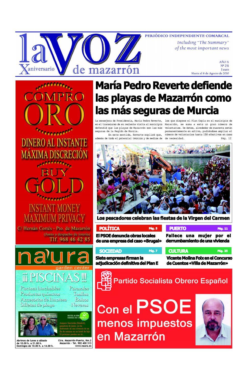 Voz251 by La Voz de Mazarrón (Periódico) - issuu f6b99badf96a