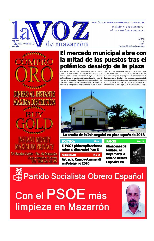 Voz257 by La Voz de Mazarrón (Periódico) - issuu