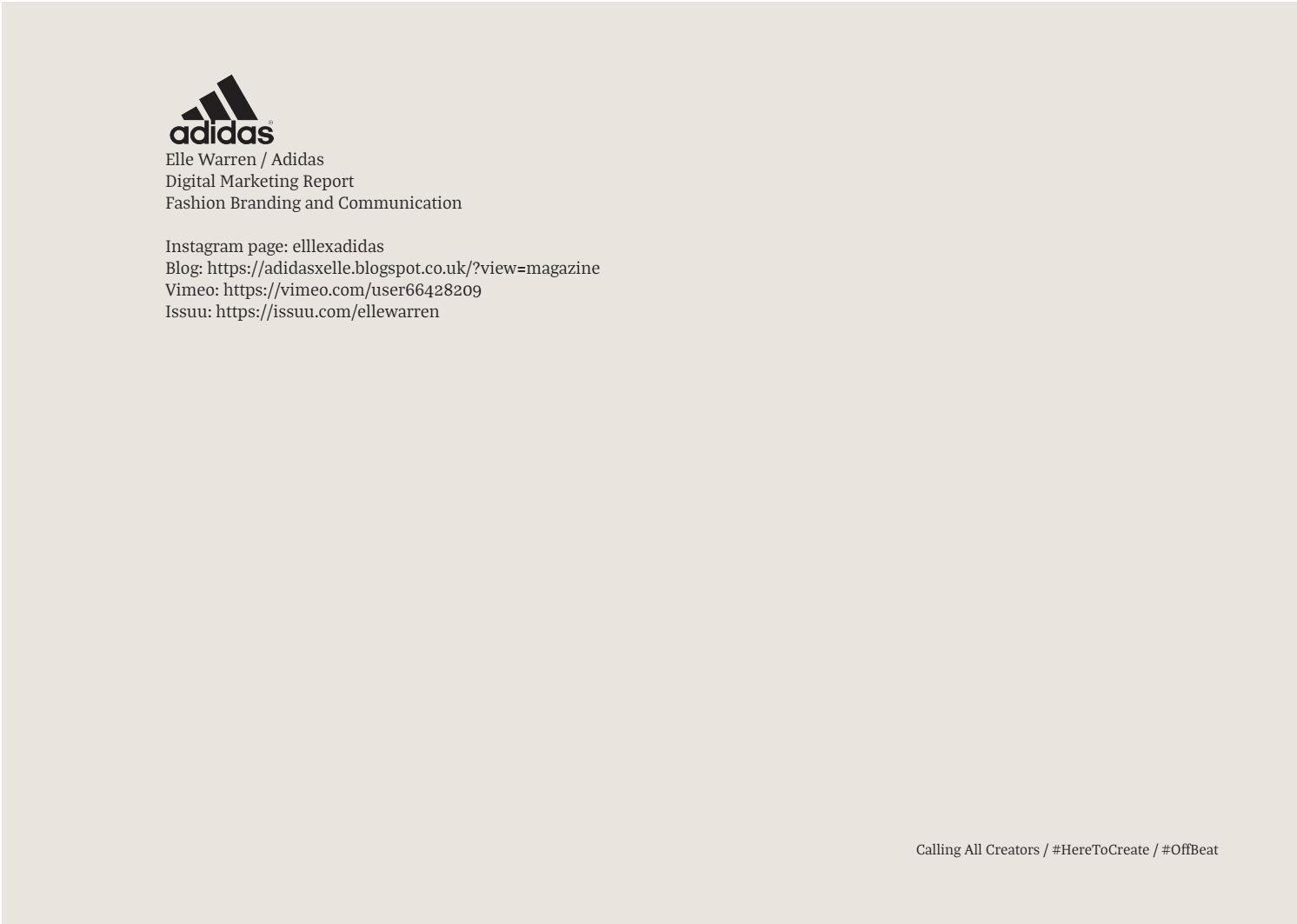 Adidas Marketing Report by elle warren - issuu fc37baa98051
