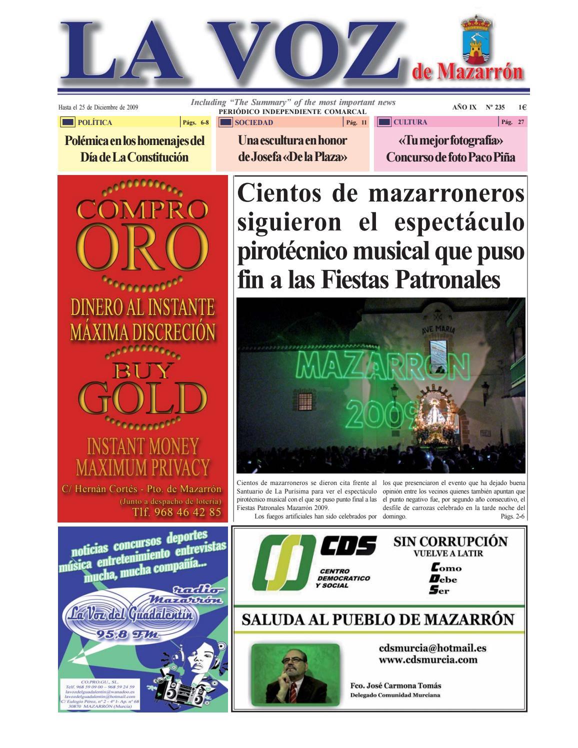 Voz235 by La Voz de Mazarrón (Periódico) - issuu 80cb6e58bbde9