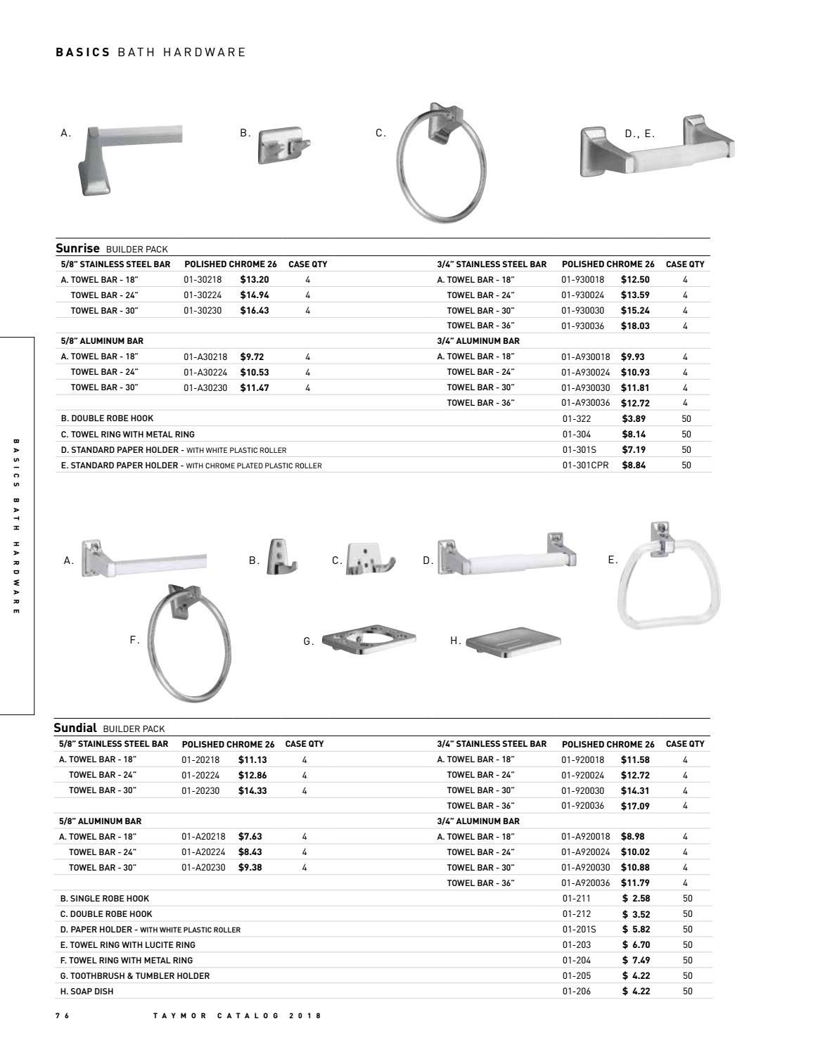 Polished Chrome Taymor 01-301S Sunrise Paper Holder with White Plastic Roller