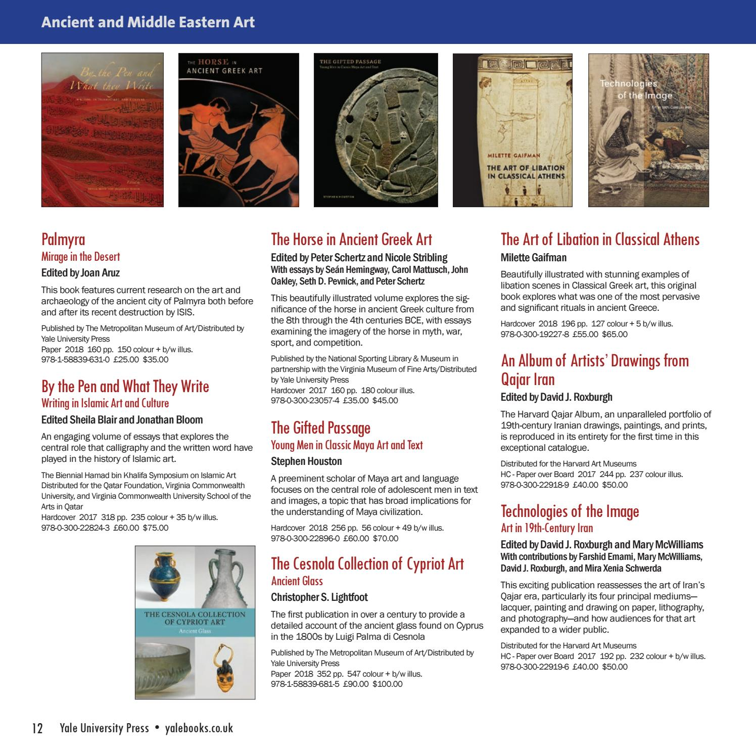Yale Catalogue: Art 2018 by Yale University Press, London - issuu