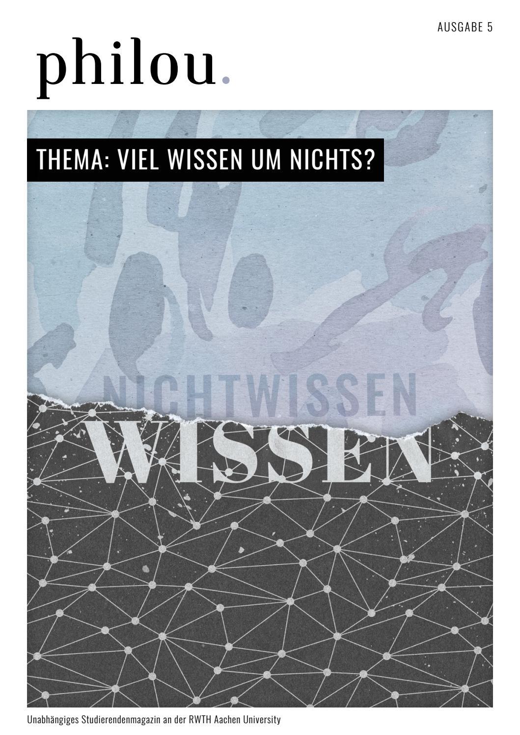 philou. #5 Viel Wissen um Nichts? by philou. - issuu