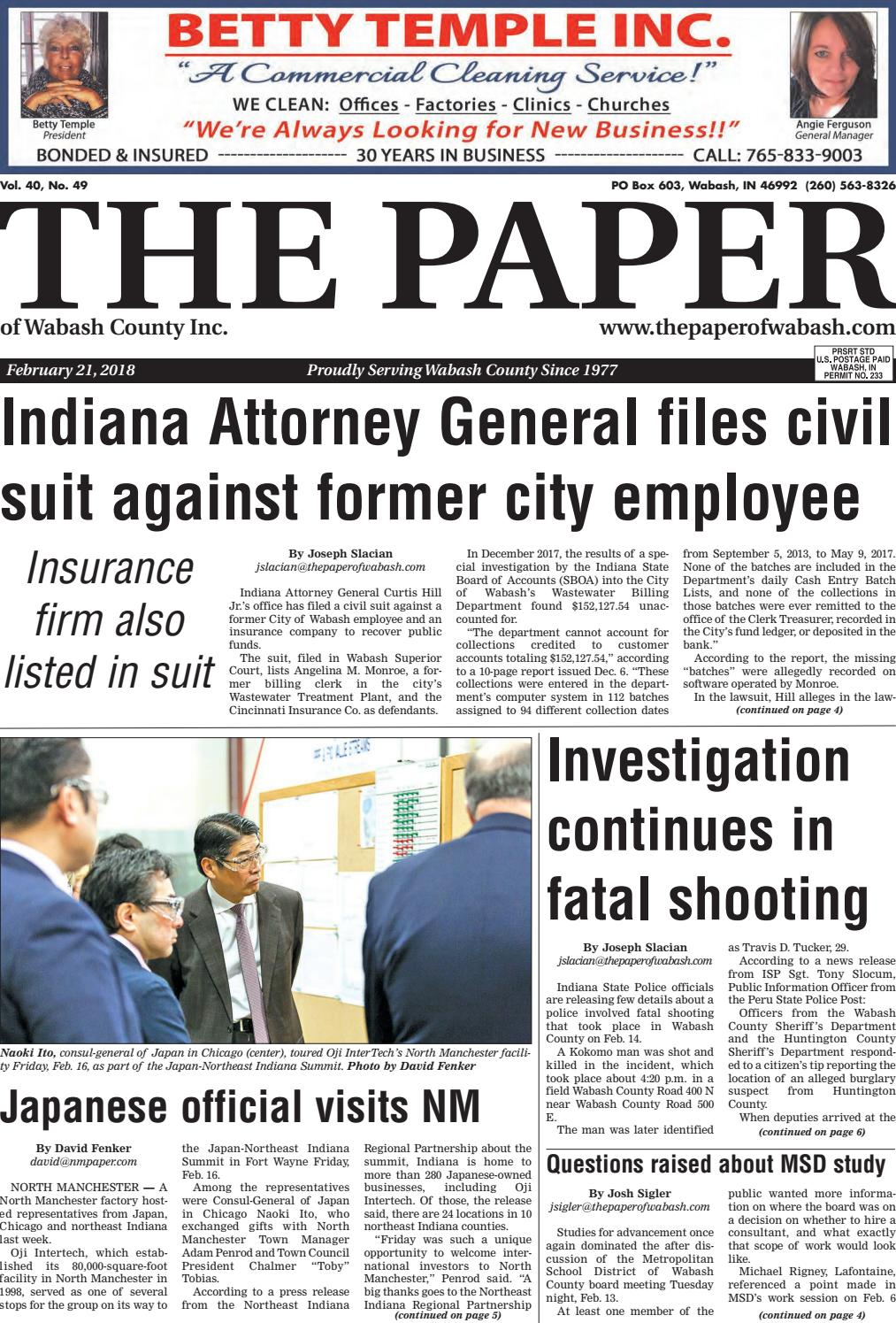 the paper of wabash county feb 21 2018 issue by the paper of
