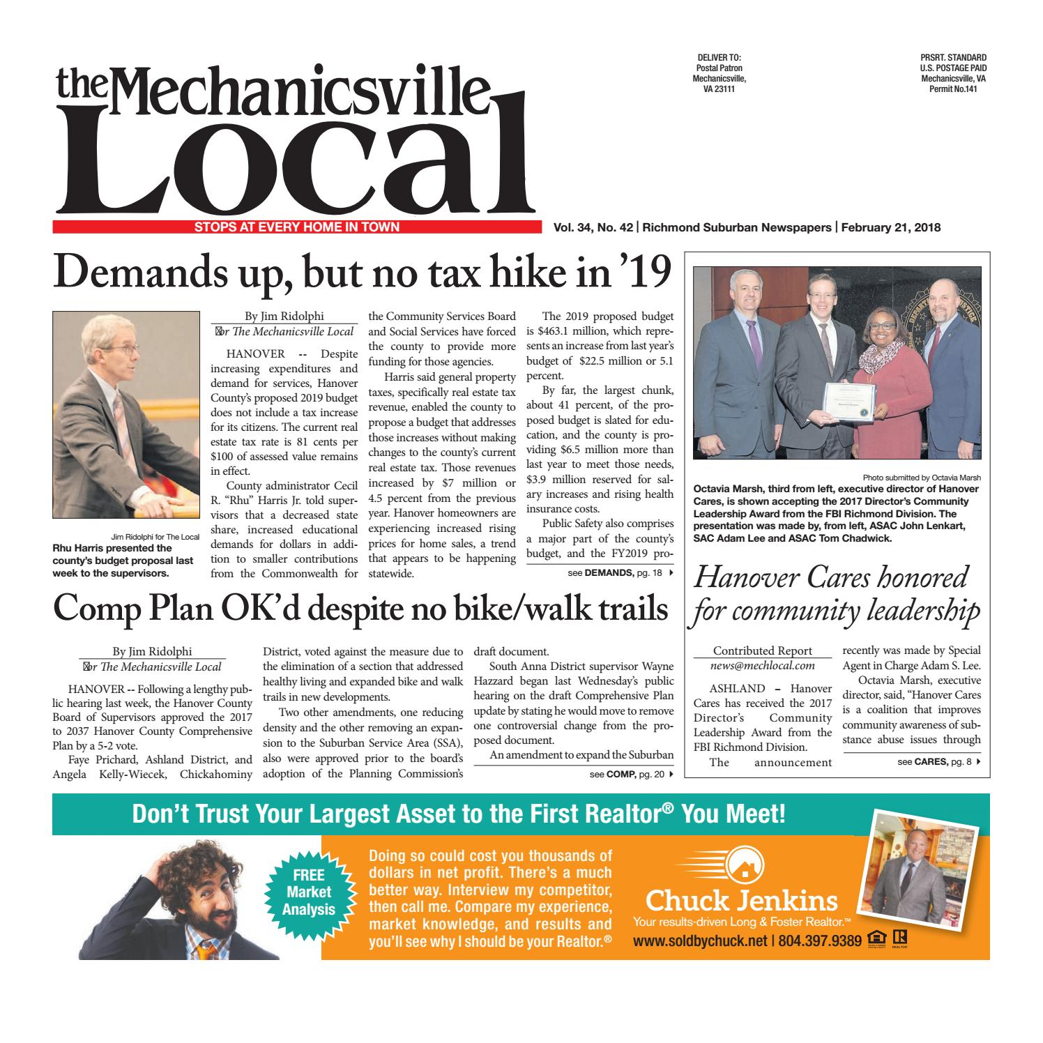 02 21 18 by The Mechanicsville Local - issuu 395010588