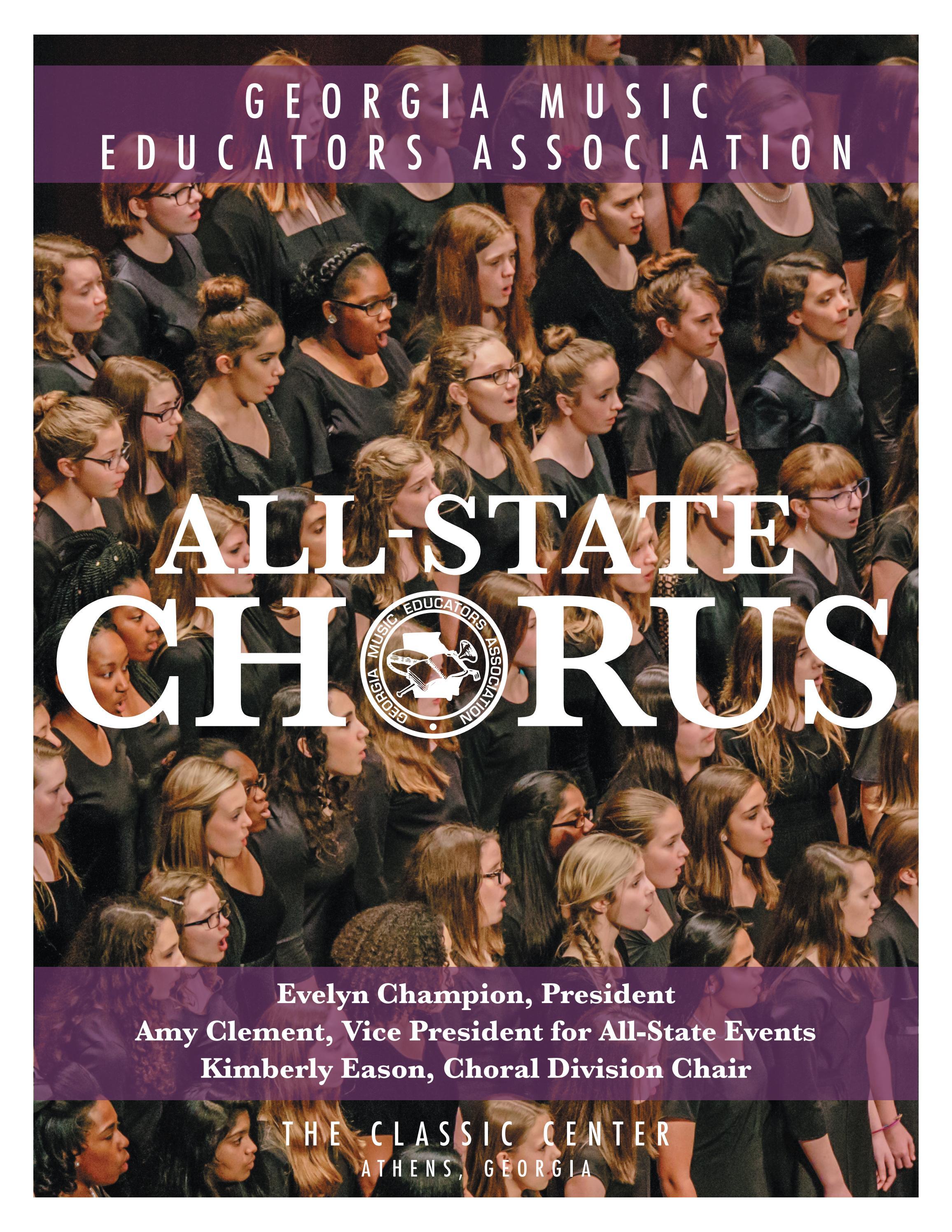 2018 GMEA All-State Chorus Program by Georgia Music Educators