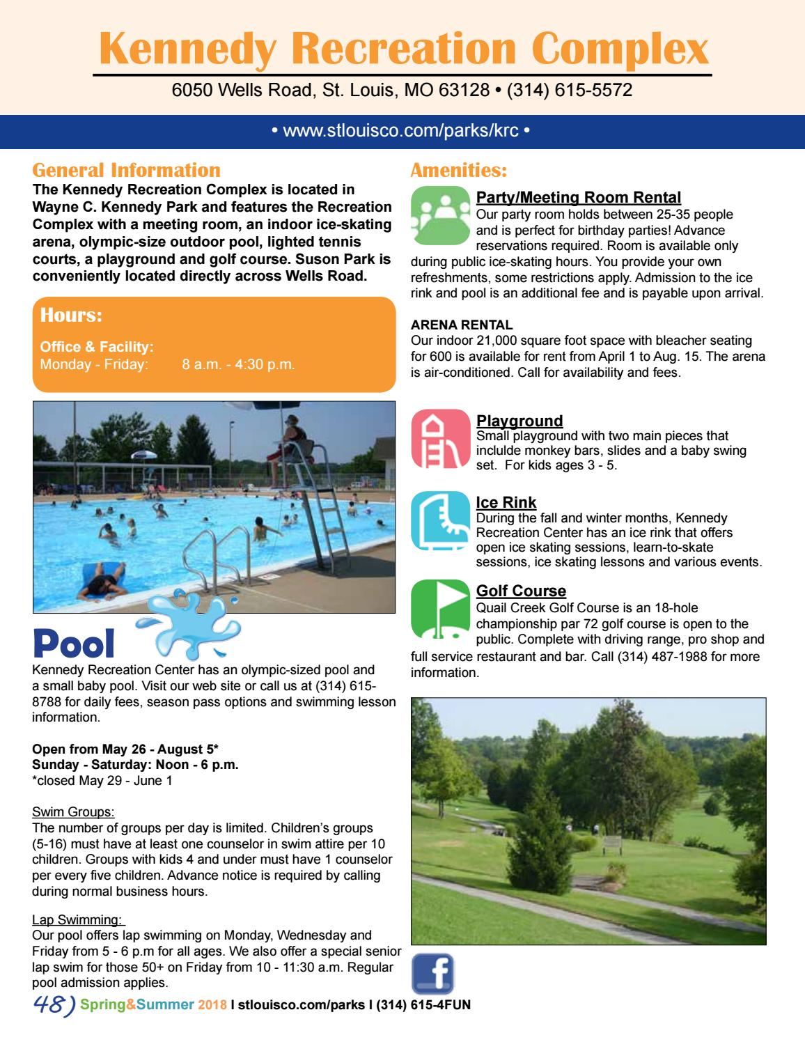 St  Louis County Parks Spring/Summer 2018 Activity Guide by