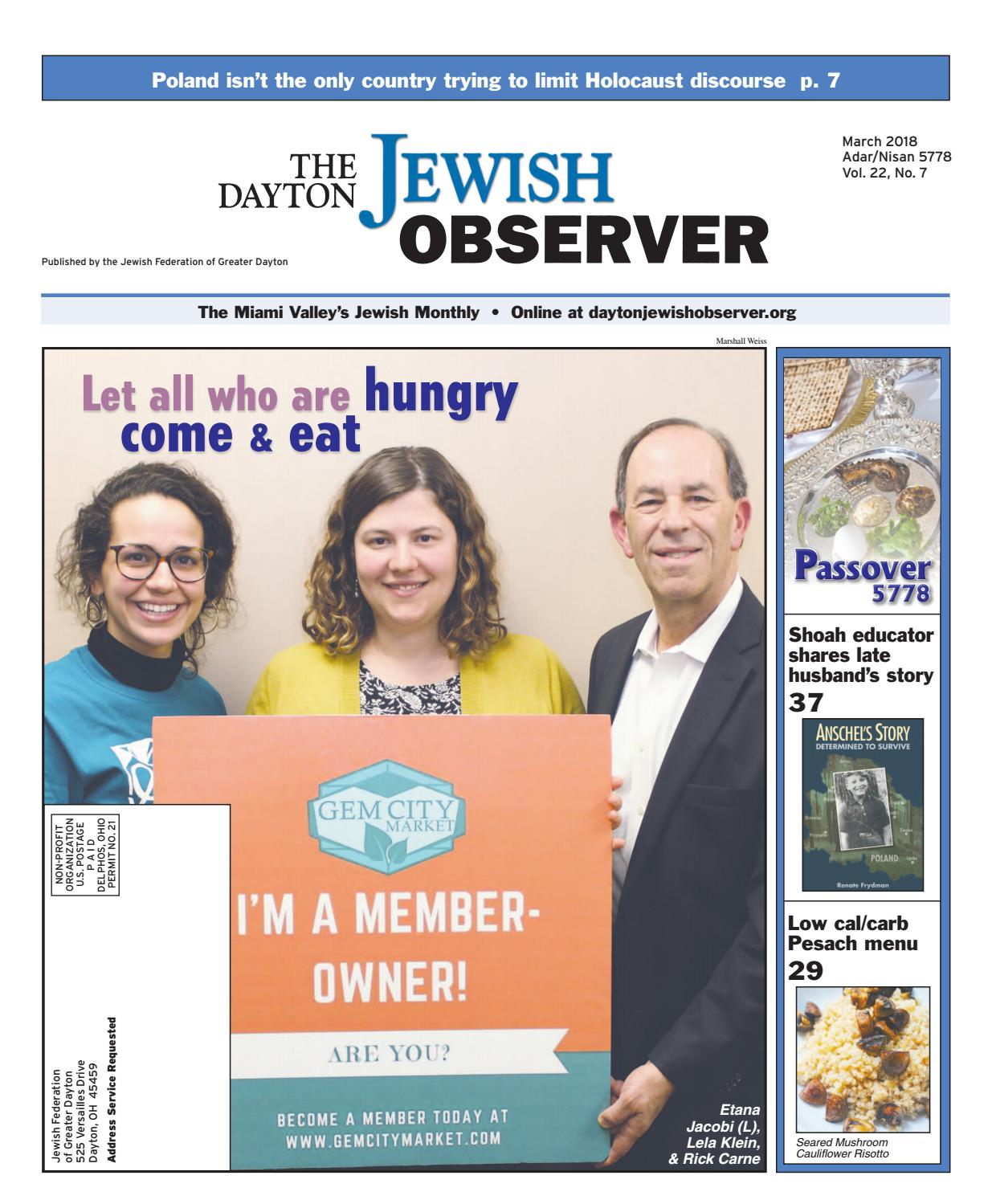 The dayton jewish observer march 2018 by the dayton jewish observer the dayton jewish observer march 2018 by the dayton jewish observer issuu malvernweather Images