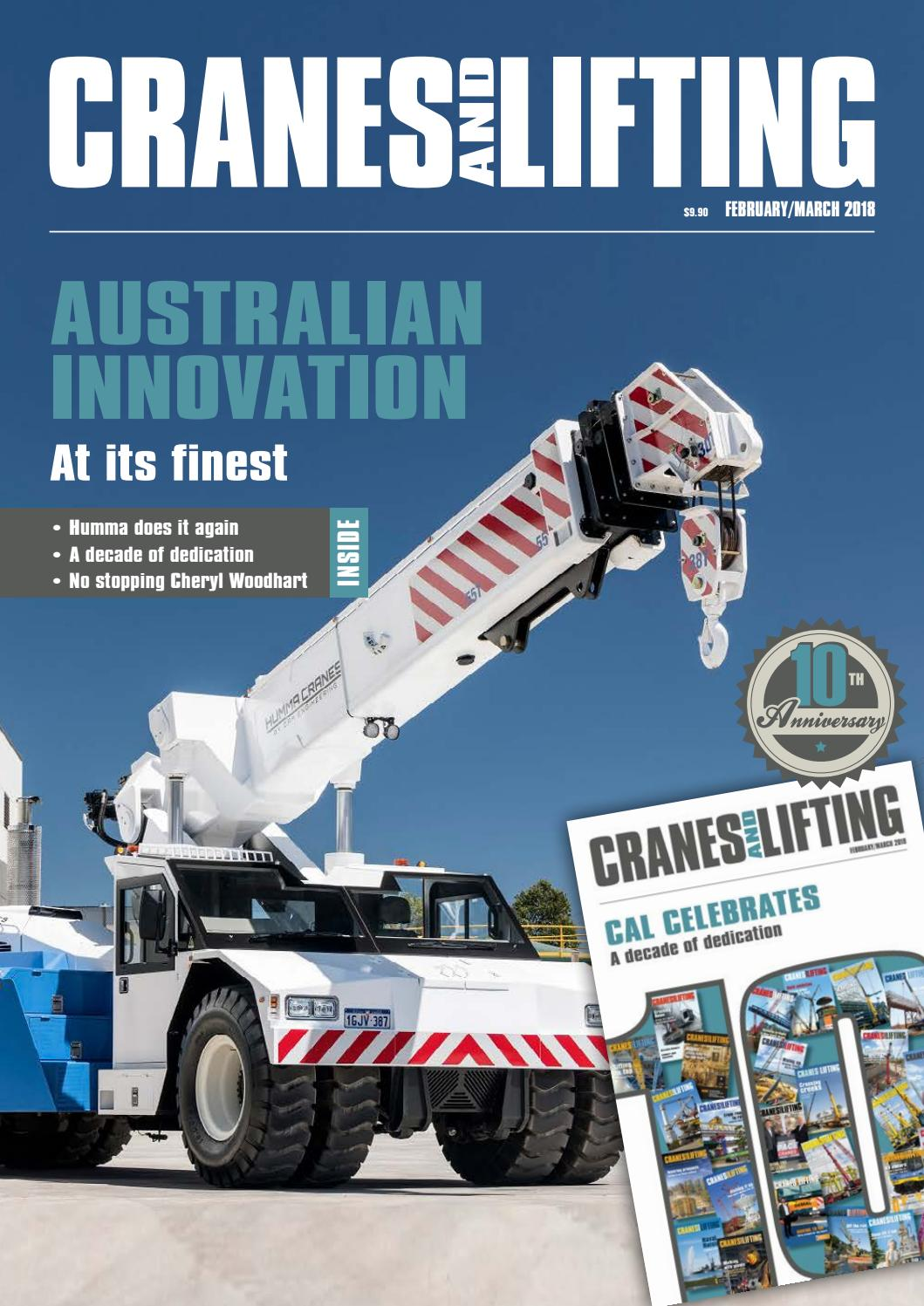 CRANES AND LIFTING: February/March 2018 by Mayfam Media - issuu