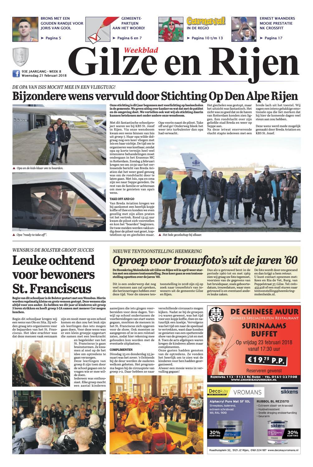 Dorst Glas En Slotenservice.Weekblad Gilze En Rijen 21 02 2018 By Uitgeverij Em De Jong Issuu