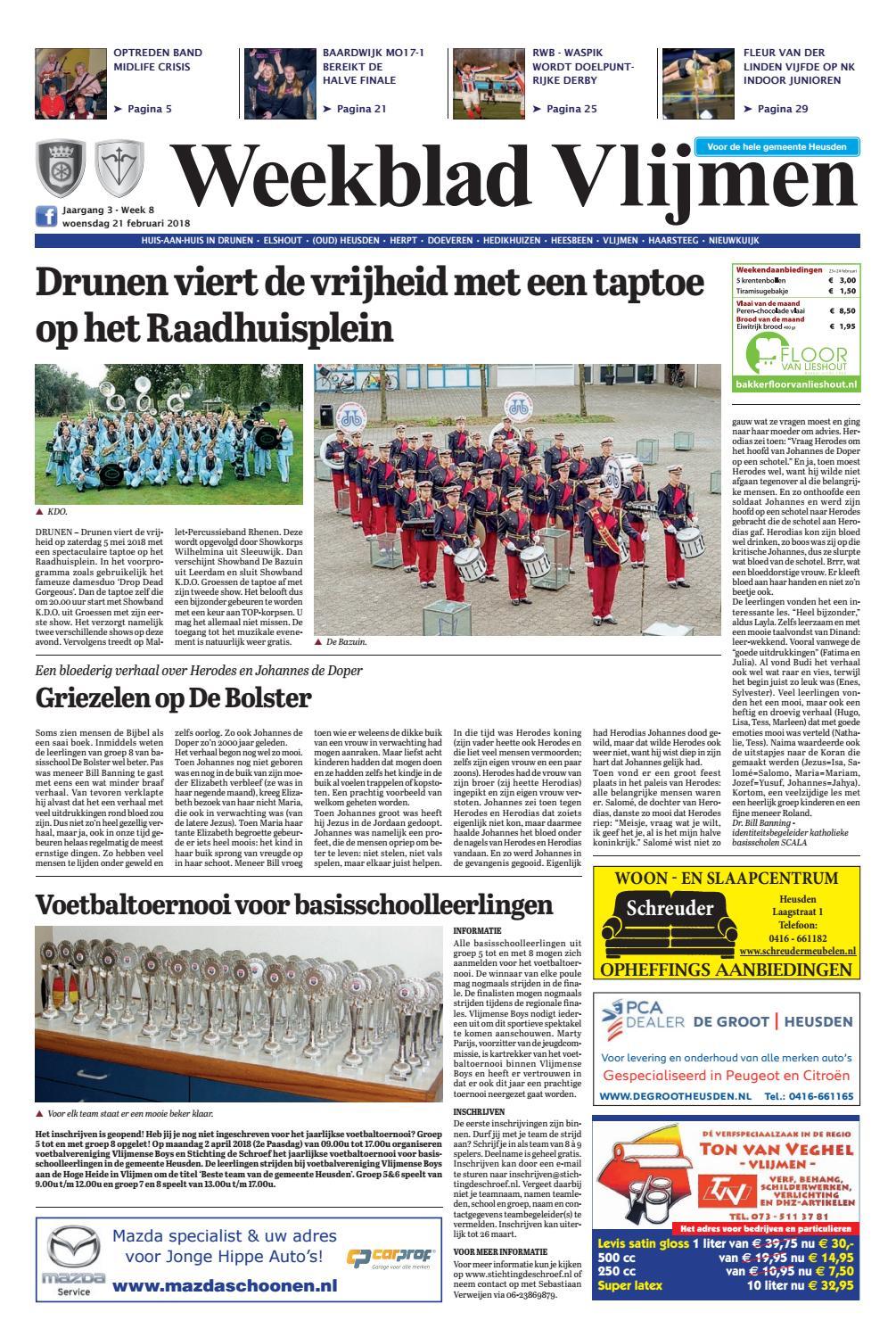 b387c2c1701 Weekblad Vlijmen 21-02-2018 by Uitgeverij Em de Jong - issuu