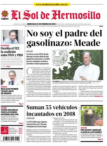 b508d0760e Edicion impresa 21 febrero 2018 by El Sol de Hermosillo - issuu
