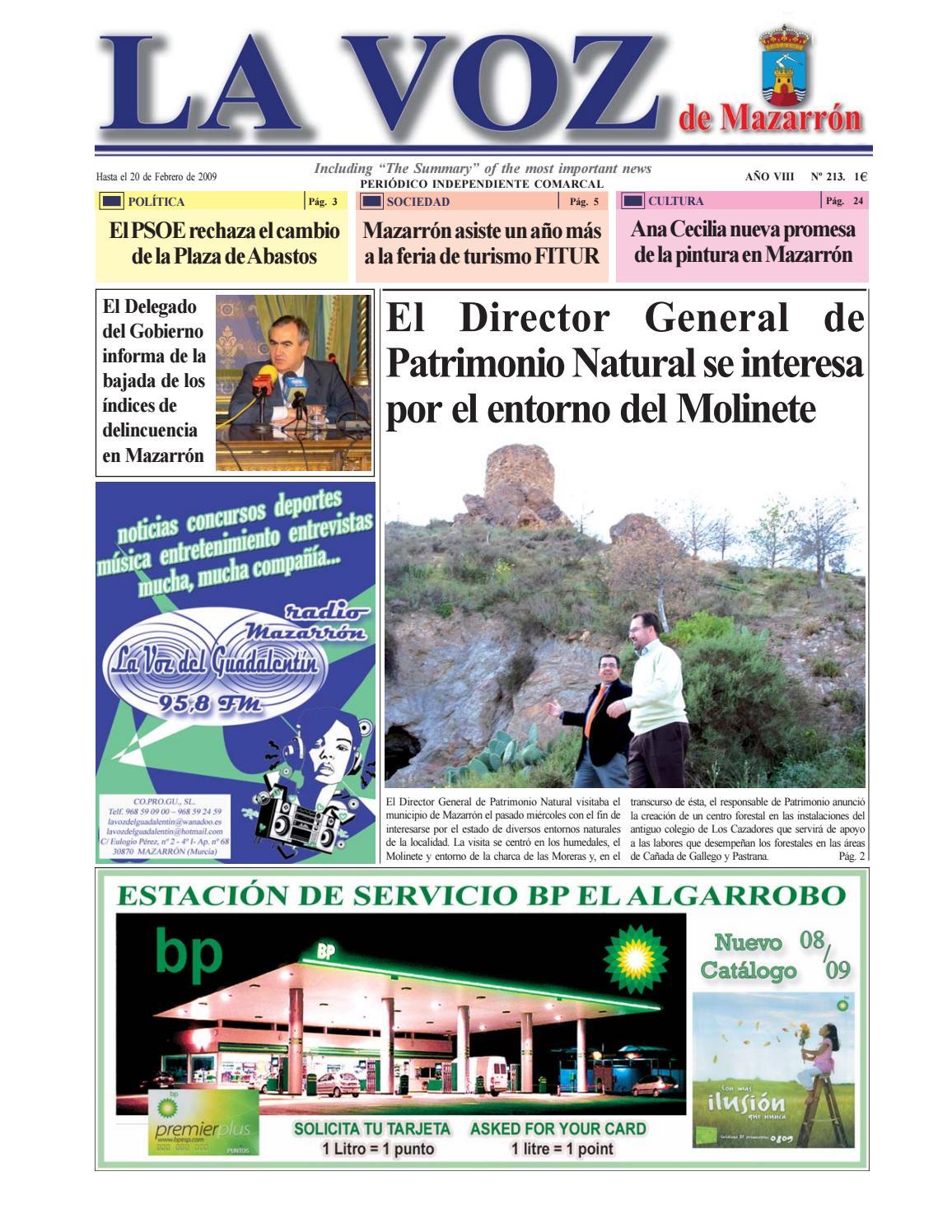 Voz213 by La Voz de Mazarrón (Periódico) - issuu