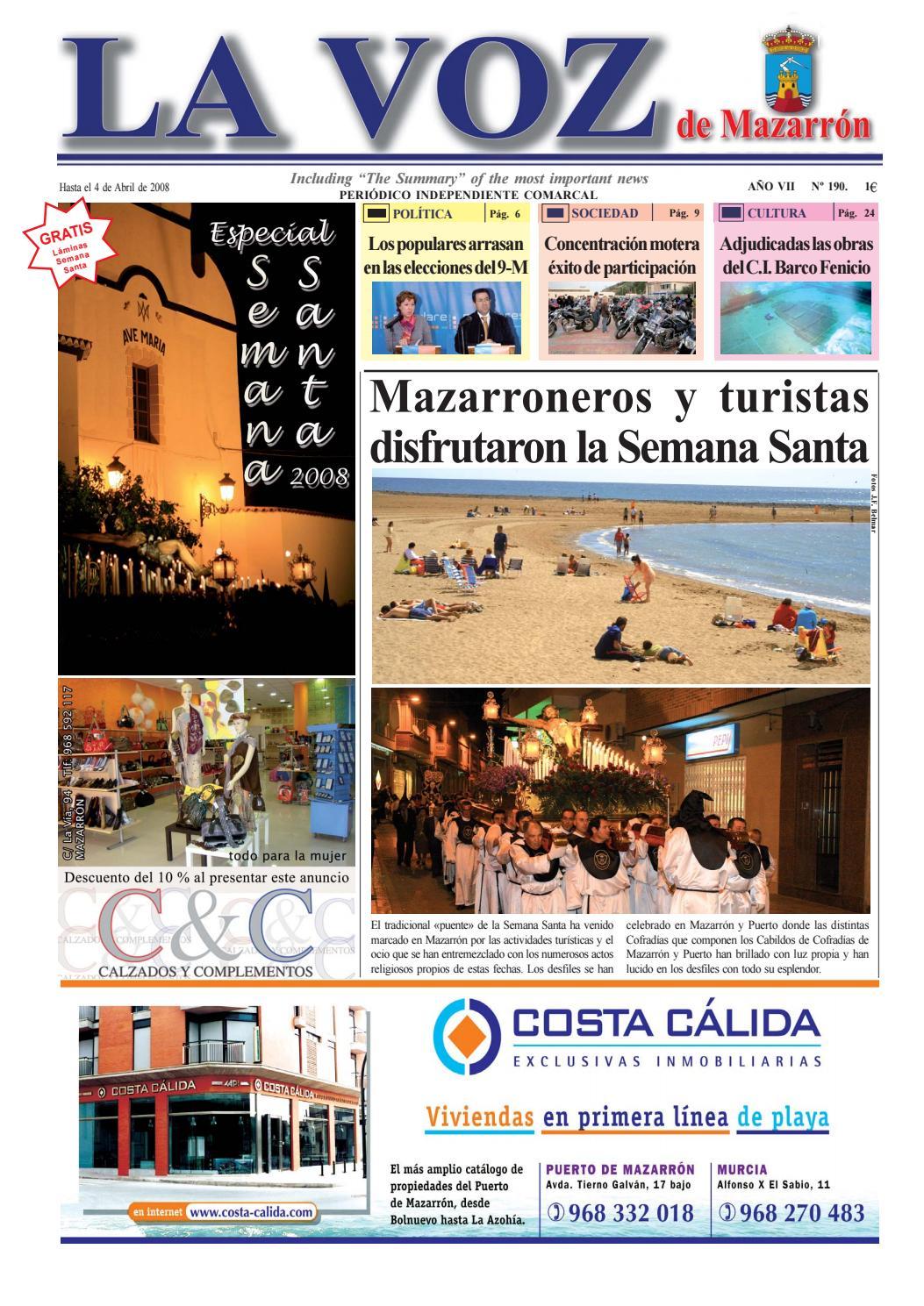 Voz190 by La Voz de Mazarrón (Periódico) - issuu