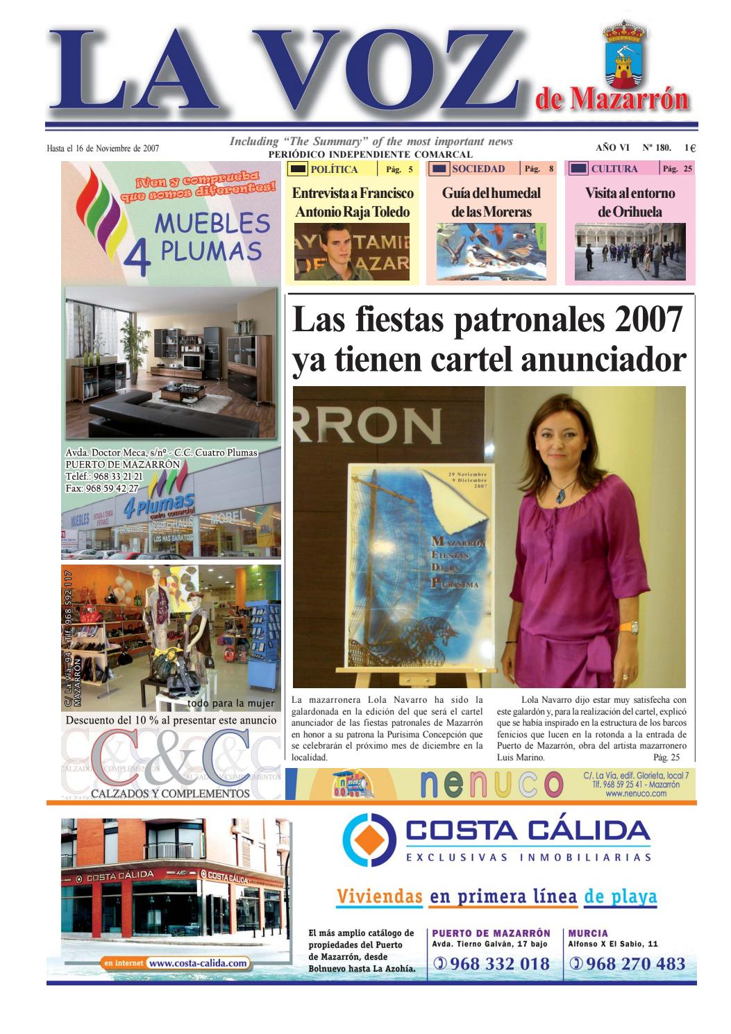 ec8fb89e45b Voz180 by La Voz de Mazarrón (Periódico) - issuu