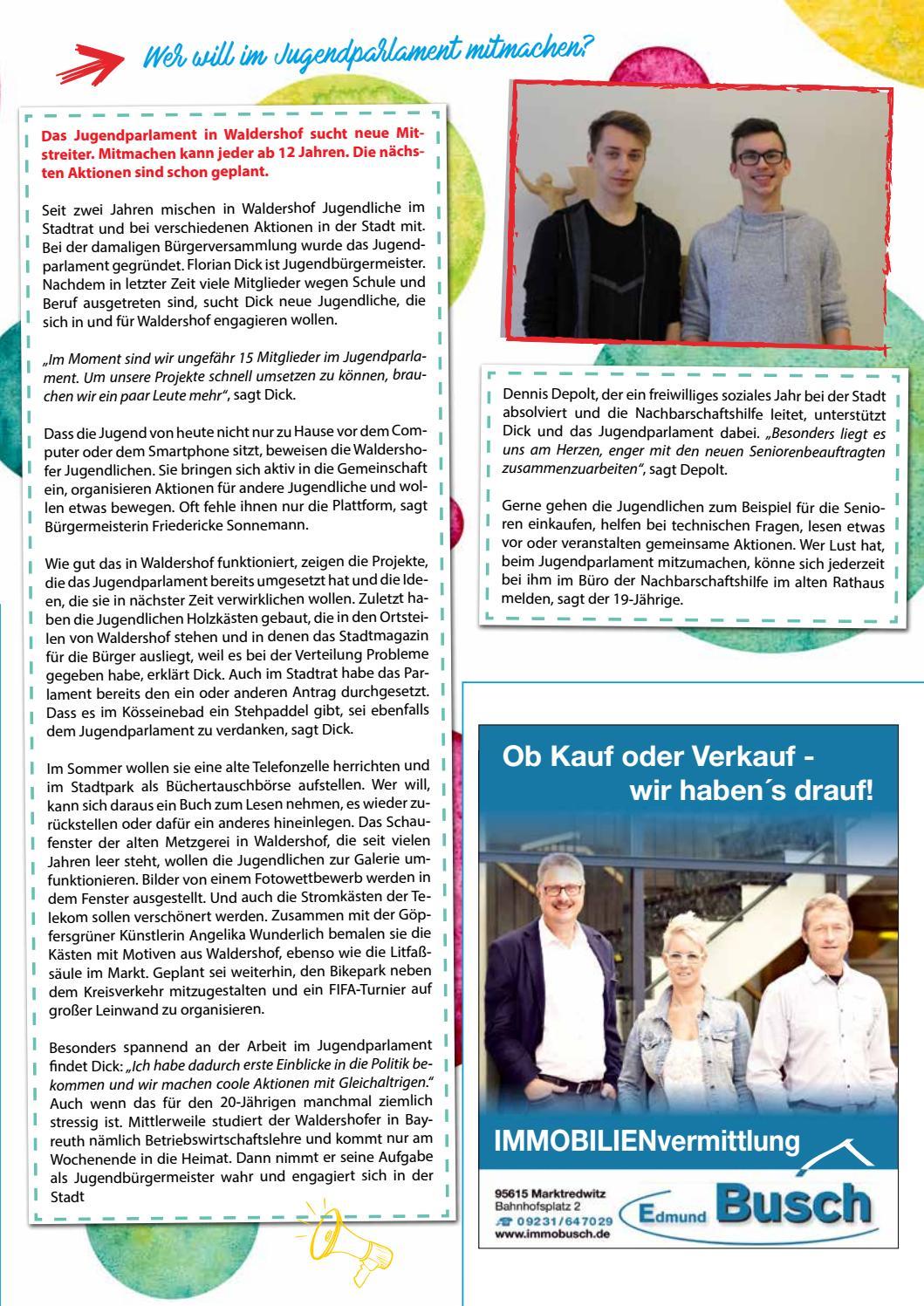 Waldershof Aktuell Ausgabe 1 - 2018 by Waldershof Aktuell - issuu