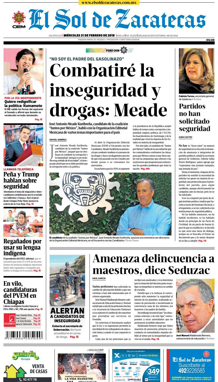 huge selection of 37191 1571e El Sol de Zacatecas 21 de febrero 2018 by El Sol de Zacatecas - issuu