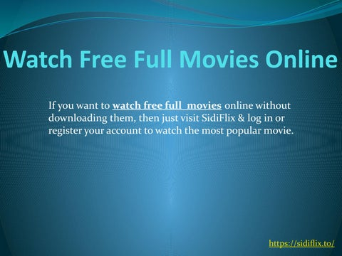 free online movies without download