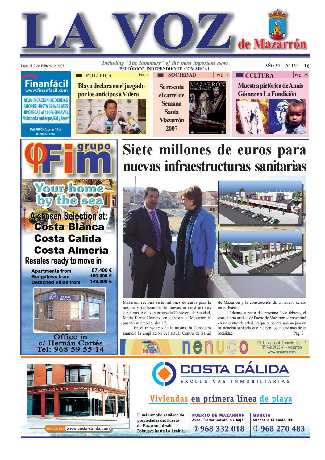 Voz160 by La Voz de Mazarrón (Periódico) - issuu